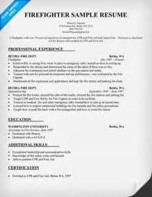 Tips To Write Firefighter Resume