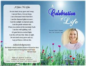 life single fold memorial program funeral pamphlets With free funeral program template publisher