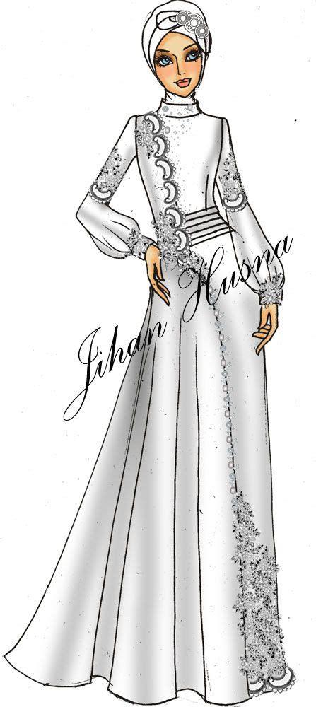 desain baju pesta muslimah desain fashion clipart