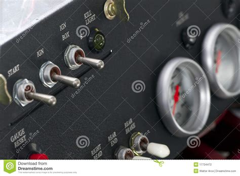 Race Car Dashboard Stock Photo. Image Of Controller