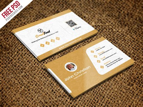 Restaurant Chef Business Card Template Free Psd D By Psd Avery Business Cards Labels Not Aligning Die Cut Canada Wedding Planner Samples Full Color And Flyers In 1 Day Leaflets Posters Glitter Australia App Reviews