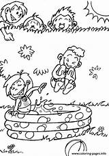 Coloring Playing Pages Summer Printable sketch template