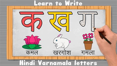 Learn To Write 36 Hindi Varnamala Letters With Pictures