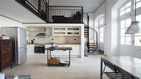 Home designs for small spaces, warehouse loft apartment