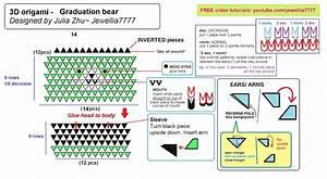 Jewellia Handicrafts  New 3d Origami Graduation Bears