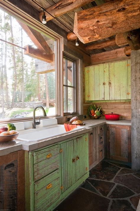 cabin style kitchen cabinets 20 beautiful rustic kitchen designs interior god