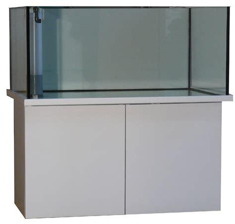 aquarium meuble blanc laque city