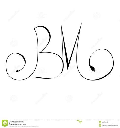 initialen die het monogram   van de handtekening van letters voorzien vector illustratie