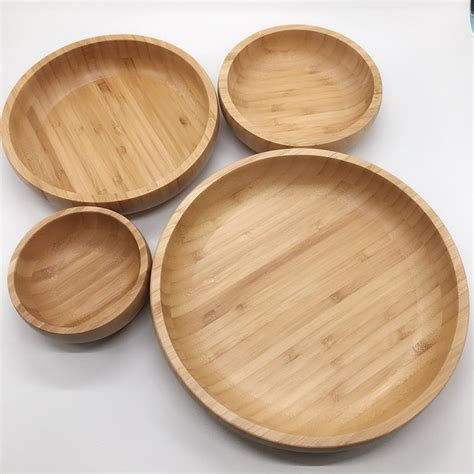bamboo plate  bamboo salad bowl set bmaboo bowl manufacturers china customized products