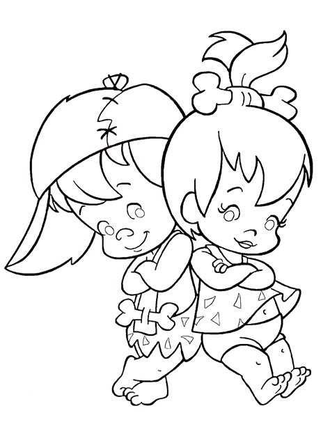 pebbles  bambam coloring pages   print