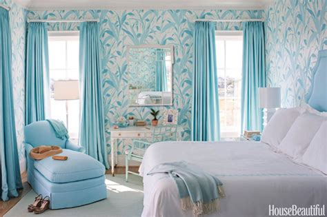White And Blue Bedroom by Blue And White Interiors