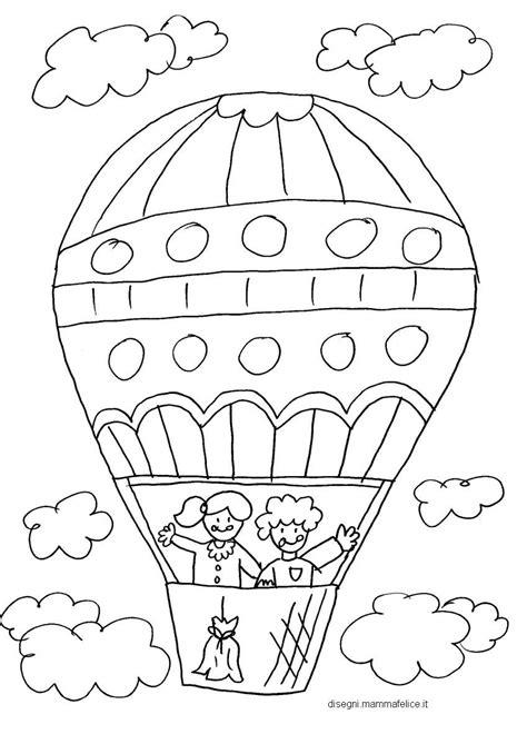 disegno per bimbi disegno da colorare per bambini la mongolfiera