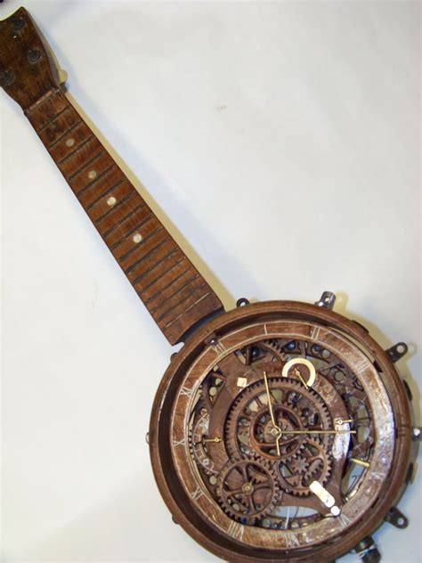 wooden gear banjo clock  steps  pictures