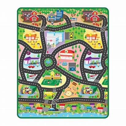 Toy Map Roll Track Transferred Mat Heat