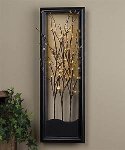 Light up willow branch wall art for the home