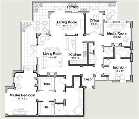 two bedroom cottage floor plans 97 best penthouse images on apartment floor