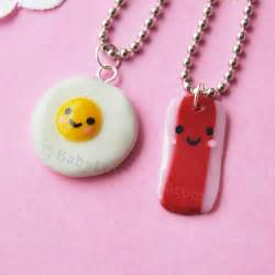 Egg and Bacon BFF Necklaces