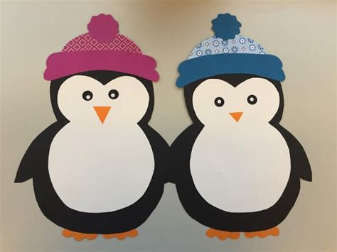 pinguin basteln vorlage easy winter crafts that anyone can make happiness is