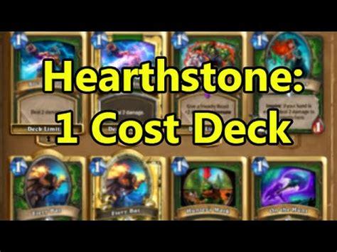 Hearthstone Fun Decks 1 Cost Deck  Wowcrendor Youtube
