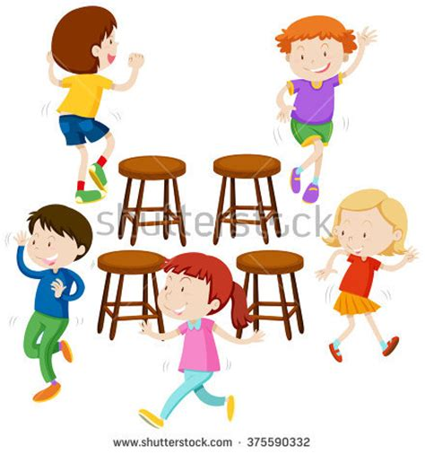 chaises musicales musical chairs stock images royalty free images vectors