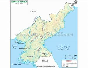 Buy North Korea River Map in Digital Formats
