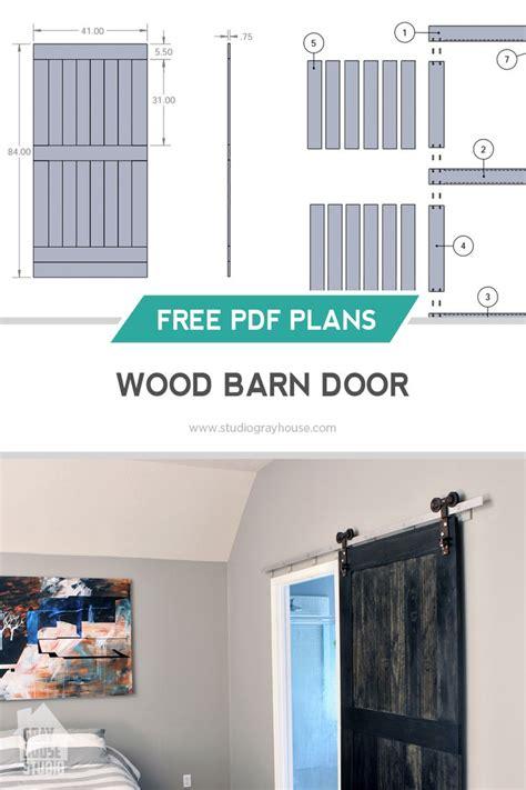 barn door plans  woodworking projects plans