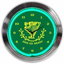 Irish Erin Go Bragh Neon Clock NC 20 02