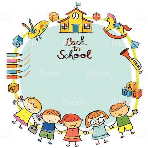 kindergarten back to school frame stock vector more of 2015 472596336 istock