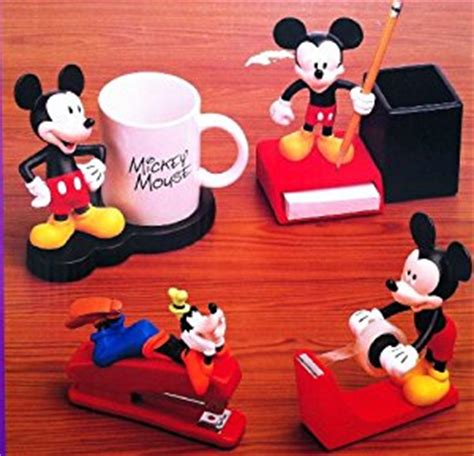 mickey mouse desk accessories amazon com disney mickey mouse 4 piece desk collection w