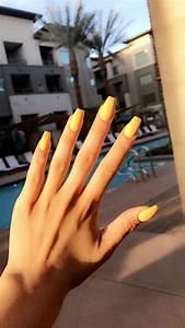 yellow mattte coffin acrylics nail trends acrylic