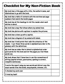 science  animal report template  fiction writing