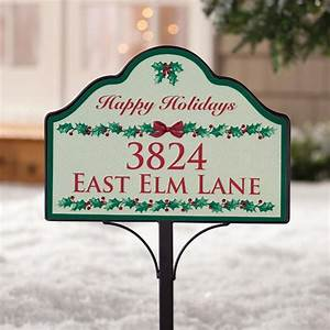 personalized holly magnetic yard sign outdoor decor With magnetic letters for outdoor signs