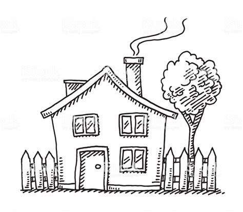 cartoon house drawing stock vector art