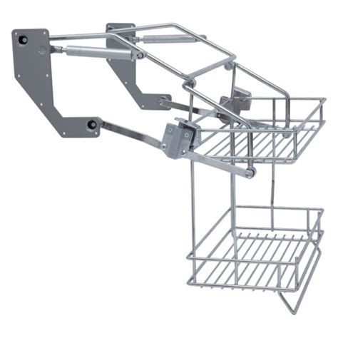 Vibo Pull Down Two Tier Wire Shelves For Width