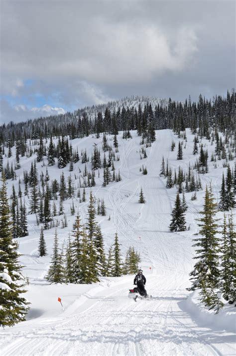 canyon creek guided snowmobile trail tours swan mountain