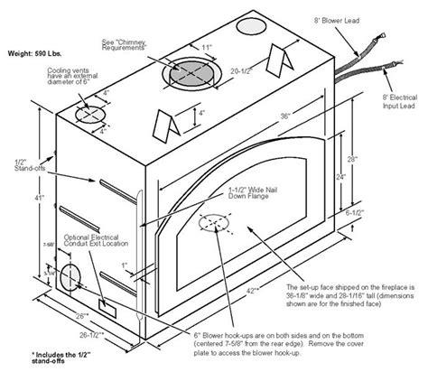 fireplace firebox dimensions 36 elite wood fireplace fireplace xtrordinair