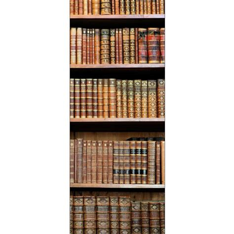 papier peint porte d 233 co biblioth 232 que stickers autocollants