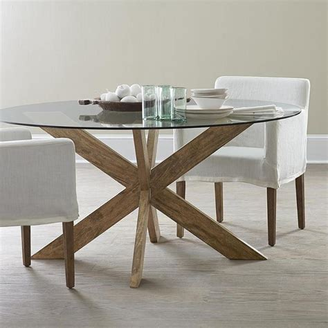 Most Comfortable Glass Dining Table With Wood Base Best 25