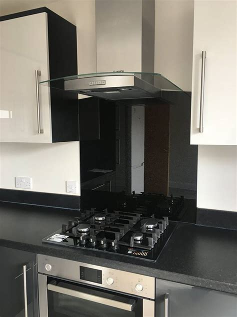 black sparkle kitchen splashbacks