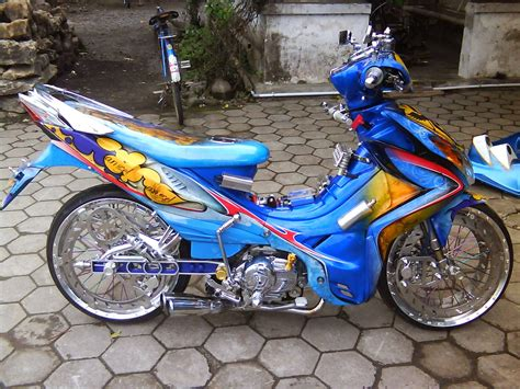 Modif Supra X 125 Ring 17 by Gambar Modifikasi Supra X 125 Sederhana Terbaru Model Road