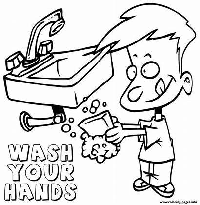 Coloring Hands Pages Wash Covid19 Printable Soap
