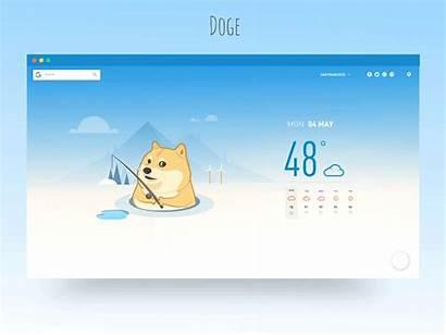 Doge Desktop Version Cloudy Chance Dribbble Wow