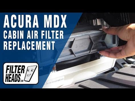 replace cabin air filter acura mdx youtube