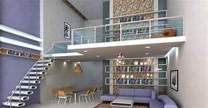 Faire Une Mezzanine : mezzanine dans un salon inspiration et guide pratique ~ Melissatoandfro.com Idées de Décoration