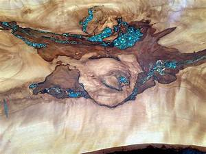 Turquoise Inlay Console Table - Rustic Artistry