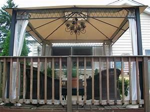 outdoor gazebo lighting ideas homesfeed With outdoor plug in light for gazebo