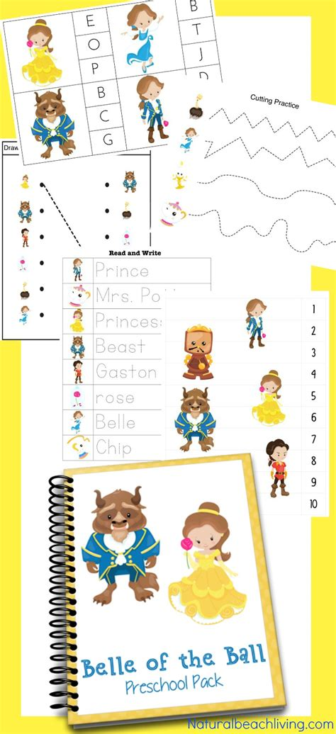 the and the beast printables for preschool 493 | Beauty and the Beast Printables pin