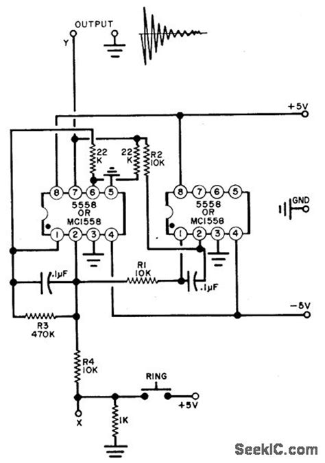 Electronic Bell Circuit Diagram by Electronic Bell Basic Circuit Circuit Diagram Seekic