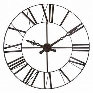Horloge Murale Industrielle : horloge murale industriel vintage 110cm marron ~ Teatrodelosmanantiales.com Idées de Décoration