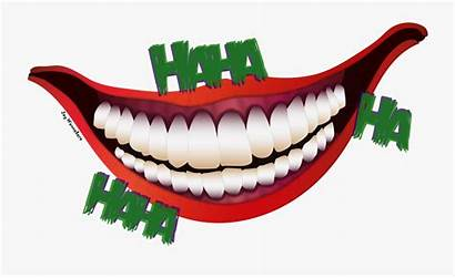 Lips Joker Smile Hahaha Clipart Transparent Mouth
